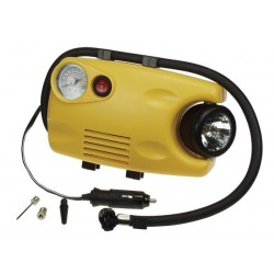 AIR COMPRESSOR (116 psi) WITH GAUGE AND WORK LIGHT (12V / 3W)