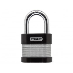 STANLEY - SECURITY LOCK - LAMINATED - LONG SHACKLE - 60 mm