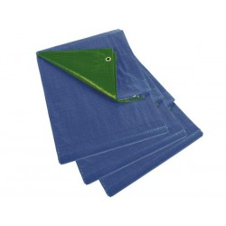 SET OF 3 TARPAULINS - BLUE/GREEN - BASIC - 2 x 3m