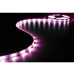 KIT WITH FLEXIBLE LED STRIP, CONTROLLER AND POWER SUPPLY - RGB - 90 LEDs - 3m - 12Vdc
