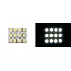 WHITE LED DOME LIGHT - 12V - 17x20mm