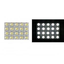 WHITE LED DOME LIGHT - 12V - 50x35mm