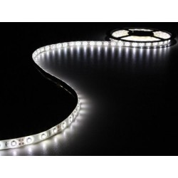KIT WITH FLEXIBLE LED STRIP AND POWER SUPPLY - WHITE - 180 LEDs - 3m - 12Vdc