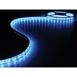KIT WITH FLEXIBLE LED STRIP AND POWER SUPPLY - BLUE - 180 LEDs - 3m - 12Vdc