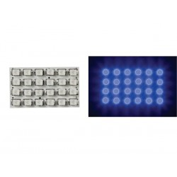 BLUE LED DOME LIGHT - 12V - 34x20mm