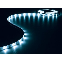 KIT WITH FLEXIBLE LED STRIP AND POWER SUPPLY - BLUE - 150 LEDs - 5m