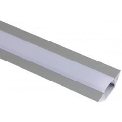 ALUMINIUM LED PROFILE FOR LED STRIPS - CORNER TYPE - 2M