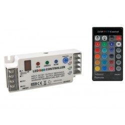 RGB LED CONTROLLER WITH IR REMOTE CONTROL