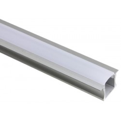 ALUMINIUM LED PROFILE FOR LED STRIPS - 15 mm - BUILT-IN TYPE - 2m