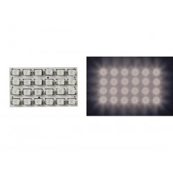 WHITE LED DOME LIGHT - 12V - 34x20mm