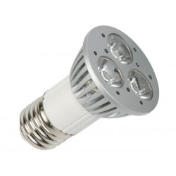3 x 1W LED LAMP - WARM WHITE (2700K) - 230V - E27 - 45°