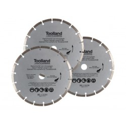 DIAMOND DISC SET - 230 mm - SEGMENTED - 3 pcs