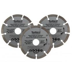 DIAMOND DISC SET - 115 MM - SEGMENTED - 3 PIECES