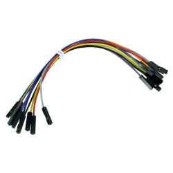 """BREADBOARD JUMPER WIRE - ONE PIN FEMALE TO FEMALE - 5.9"""" (15cm)"""