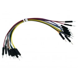 """BREADBOARD JUMPER WIRE - ONE PIN MALE TO MALE - 5.9"""" (15cm)"""