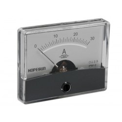 ANALOGUE CURRENT PANEL METER 30A DC / 60 x 47mm