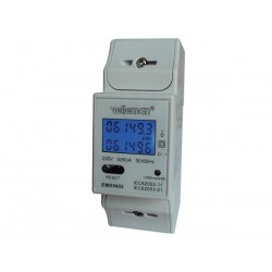 SINGLE PHASE - DUAL MODULE DIN-RAIL MOUNT kWh METER - FOR PROFESSIONAL USE