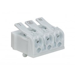 SCREWLESS TERMINAL BLOCK 3P/20 A, 0.5 to 2.5 mm² (5pcs)