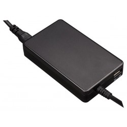 MINI UNIVERSAL NOTEBOOK ADAPTER - OUTPUT 19 VDC - 4.74 A MAX. (90 W) + USB 2.1 A - WITHOUT PLUGS