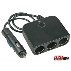 4-IN-1 CIGARETTE PLUG WITH USB OUTPUT