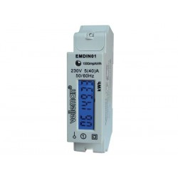 SINGLE PHASE - SINGLE MODULE DIN-RAIL MOUNT kWh METER - FOR PROFESSIONAL USE