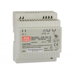 30 W SINGLE OUTPUT INDUSTRIAL DIN RAIL POWER SUPPLY 12 V 2 A