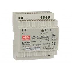 30W SINGLE OUTPUT INDUSTRIAL DIN RAIL POWER SUPPLY 24V 1.5A