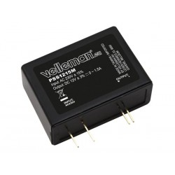 ULTRA-COMPACT SWITCHING POWER SUPPLY PCB MODULE 12VDC / 1.5A
