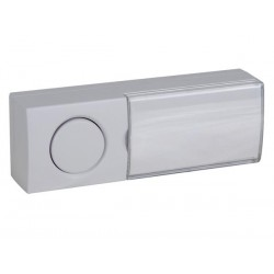 DOORBELL PUSH BUTTON WITH ILLUMINATED NAME PLATE - NO