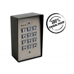 SELF CONTAINED VANDAL RESISTANT WEATHERPROOF DIGITAL ACCESS CONTROL KEYPAD WITH BACKLIGHT - 2 CHANNELS