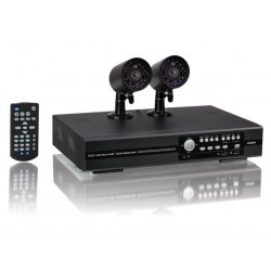 CCTV PACK EAGLE EYES: H.264 FULL FRAME DVR + 2 IR BULLET CAMERAS + PUSH STATUS + ACCESSORIES