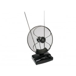 PARABOLIC ACTIVE INDOOR ANTENNA (UHF, VHF AND FM)