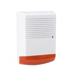 DUMMY ALARM SIREN WITH RED FLASHING LED