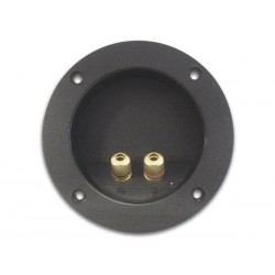 DOUBLE LOUDSPEAKER CONNECTION TERMINAL - ROUND - GOLD