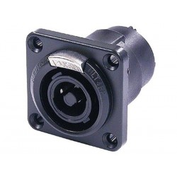 NEUTRIK - SPEAKON, FEMALE CHASSIS CONNECTOR - IP54 - BLACK
