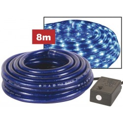 ROPE LIGHT - 2 CHANNELS - 8m - BLUE + WITH WATERPROOFED PLUG + CONTROL BOX