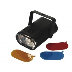 MINI STROBE 25W WITH 3 INTERCHANGEABLE COLOUR FILTERS