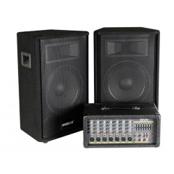 STAGE AMPLIFIER SET WITH  2 x 150Wrms SPEAKERS