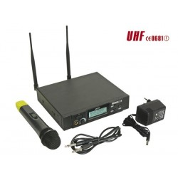 PLL WIRELESS 8-CHANNEL UHF TRUE DIVERSITY MICROPHONE SYSTEM WITH LCD DISPLAY