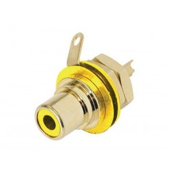 REAN - PHONO RECEPTACLE (RCA) - GOLD-PLATED CONTACTS - YELLOW