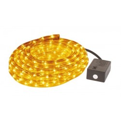 ROPE LIGHT - 2 CHANNELS - 8m - YELLOW + WITH WATERPROOFED PLUG + CONTROL BOX