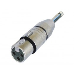 "3-POLE XLR FEMALE TO MONO 1/4"" PLUG"