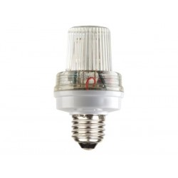 MINI STROBE LAMP WHITE, 3.5W, E27 SOCKET