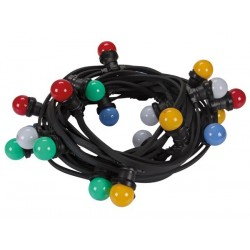 LED PARTY LIGHT CHAIN, 11.5 m, 20 COLOURED LED LAMPS