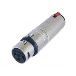 "3-POLE XLR FEMALE TO STEREO 1/4"" LOCKING JACK"