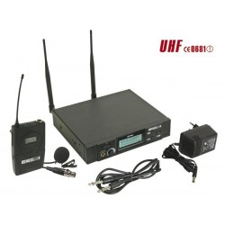 PLL WIRELESS 8-CHANNEL UHF TRUE DIVERSITY MICROPHONE SYSTEM - BODY-PACK TRANSMITTER + LAVALIER  MICROPHONE