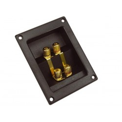 DOUBLE LOUDSPEAKER CONNECTION TERMINAL - RECTANGULAR - GOLD