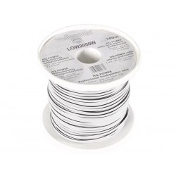 LOUDSPEAKER WIRE - WHITE - 2 x 0.50mm² - 100m