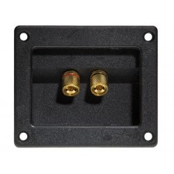 DOUBLE LOUDSPEAKER CONNECTION TERMINAL - SQUARE - GOLD