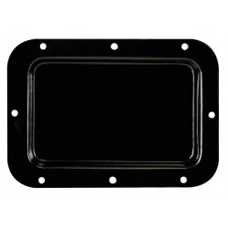 TERMINAL BOARD, BLACK METAL, 126 x 179mm, NO HOLES